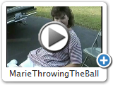 Marie Throwing The Ball